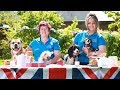 Rescue Dogs Awaiting Adoption Celebrate Royal Wedding with Tea Party