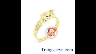 Nhẫn kim tiền chiêu tài lộc, Nhẫn kim tiền may mắn, TSVN018875