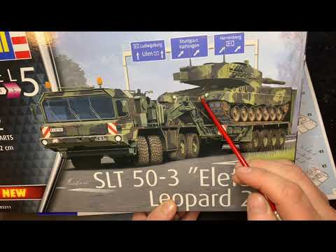 Revell SLT 50-3 Elefant mit Leo 2A4 1/72 in Box Review