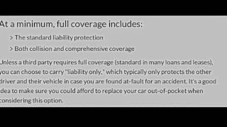 Coverage And Liability