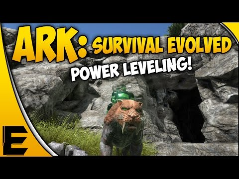 ARK Survival Evolved Gameplay & Guide ➤ POWER LEVELING, Chitin Farming, Sabertooth Grinding!