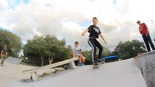 Girl Learns To Skateboard!