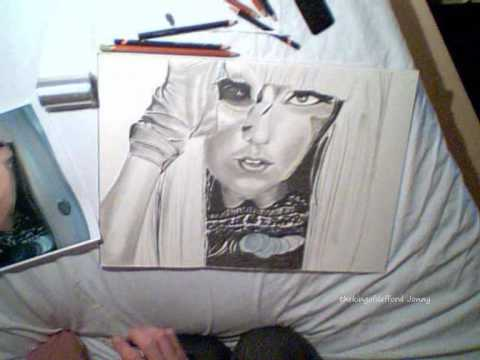 lady gaga drawing telephone