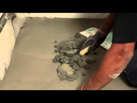 Blandning och applicering av avjämningsmassa