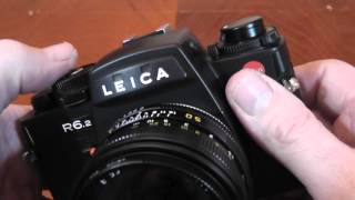 Leica R6.2 35mm SLR Film Camera Overview/Review