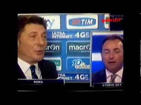 Lazio Inter 1 0 Mazzarri polemica con Mauro nel dopo partita a Sky