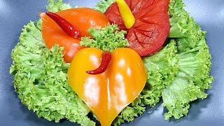 022. Free vegetable carving course pepper anthurium / Darmowy kurs carvingu anturium z papryki