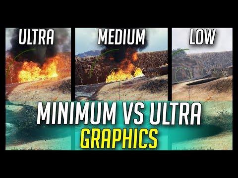 ► Ultra vs Medium vs Minimum Graphics on HD Maps - World of Tanks 1.0 Update