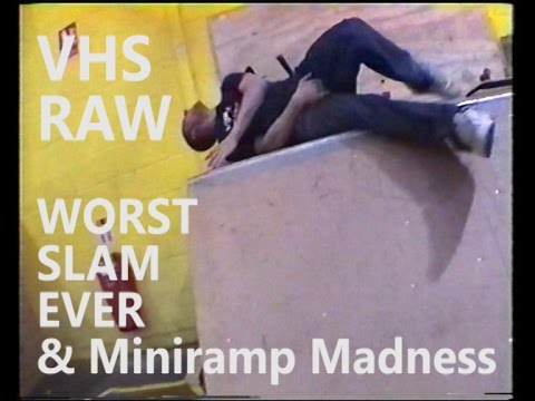 VHS RAW THE WORST SLAM & Mini Ramp Madness
