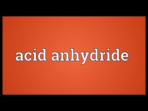 Header of acid anhydride