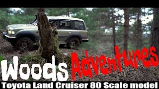 RC 4x4 Adventures scale racer Toyota Land Cruiser 80 Suram Woods
