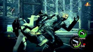 PC MOD Resident Evil 5 Classic Jill(Re3) Skin vs Wesker Boss Fight [HD 720p]