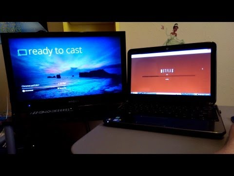Setting up and streaming Netflix / YouTube to my Google Chromecast!