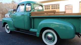 1951 Chevrolet 3100 5 Window Pick Up Truck For Sale~Straight 6~3 On The Tree