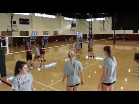 Volleyball seam hitting drill with John Dunning - The Art of Coaching Volleyball