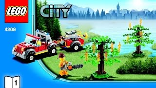 4209 LEGO Fire Plane City Fire (Instruction booklet)