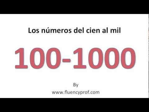 Numbers in English to Spanish Spanish Numbers From 100 1000