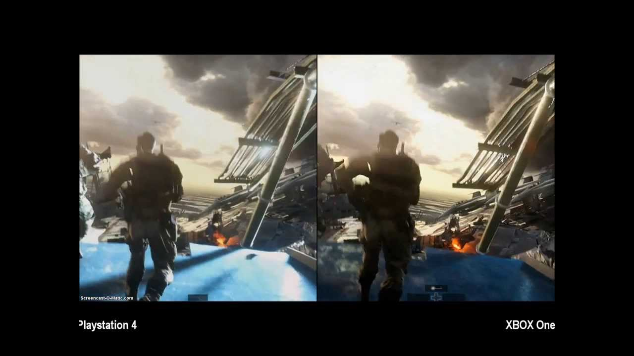 Xbox One Vs Ps4 Graphics Side By Side Playstation 4 vs XBOX One