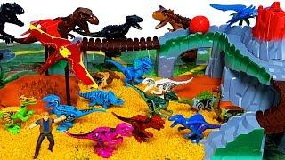 쥬라기월드 화산놀이 세트 티렉스 인도랩터 프테라노돈 랩터 블루 공룡 블럭 장난감 만들기