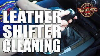How To Clean & Condition Shifter Boots - BMW Leather Detailing - Masterson's Car Care