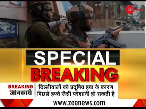 Morning Breaking: Encounter underway between security forces, terrorists in Anantnag