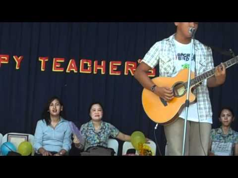 Mark Anthony Atienza Singing at MCDCC Teachers Day