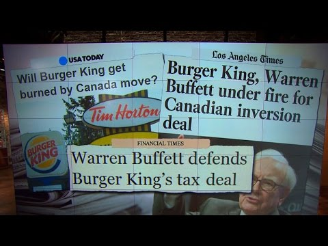 Burger King merger shines light on tax loophole, Warren Buffett criticized