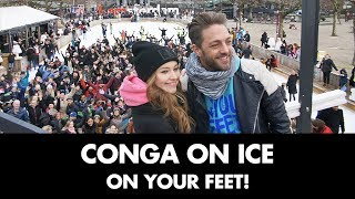 Recordpoging conga dansen op het ijs   On Your Feet!