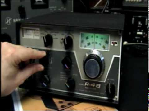 Drake Tube Ham Receiver R-4B Vintage Radio Demo