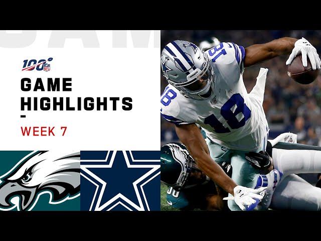 Eagles vs. Cowboys Week 7 Highlights  NFL 2019