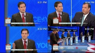Marco Rubio short-circuits and repeats same talking point 4 times