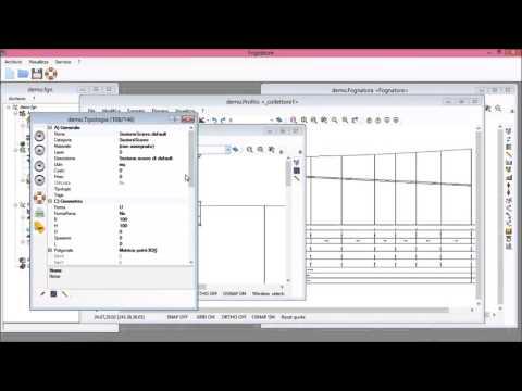 Utilizzo delle viste planimetria, profilo e sezione di un elemento della rete