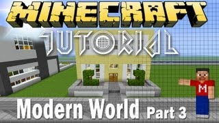 Minecraft Modern House Tutorial - Modern World E.9