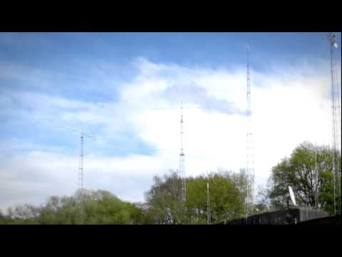 Ham radio station ON7LR - OT5A on a windy day