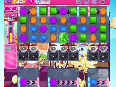 candy crush saga 2728 no boosters! youtube