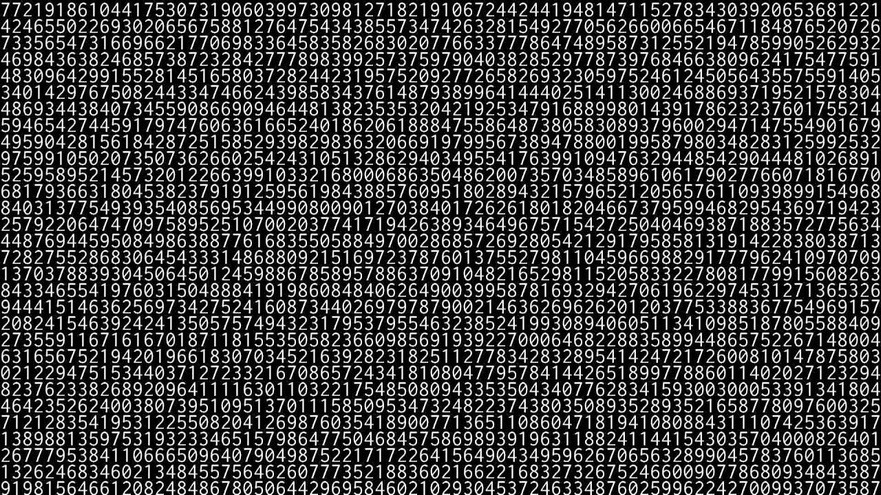 1,000,000 digits of pi [HD 1080p] - YouTube
