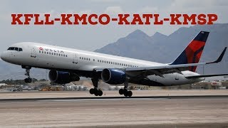 X-Plane 11|757??| KFLL-KMCO-KATL-KMSP| 737 and 757! 100 SUB SPECIAL