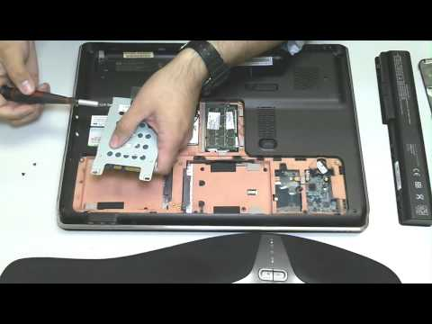 HP Pavillion DV7 Hard Drive Removal Upgrade