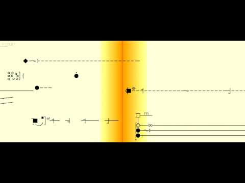 Spectromorphological notation of 'Les objets obscurs'