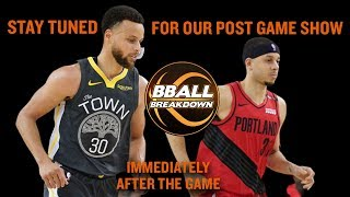 LIVE Post Game Show Warriors At Trail Blazers Game 3