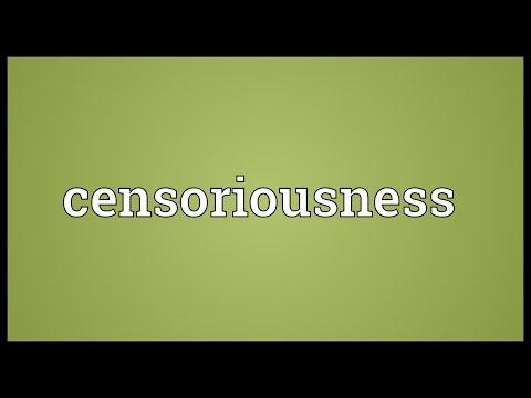 Header of censoriousness