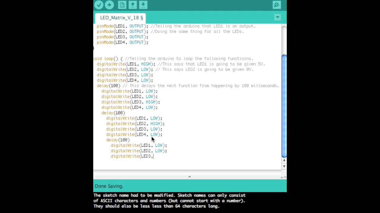 Arduino led code download