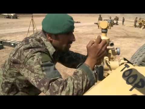 ANA Artillery live fire at Patrol Base Sorkh Bed