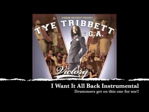 Tye Tribbett - I Want It All Back Instrumental - Dahv