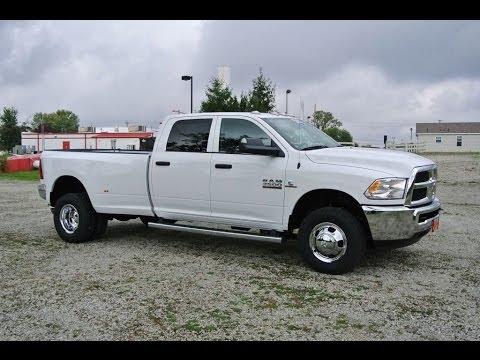 2014 Ram 3500 SLT Truck White Diesel Dually for sale Dayton Troy Piqua