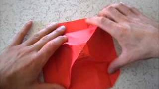 Kirmizi Orİgamİ GÜlÜ - How To Make Red Origami Rose - Part3
