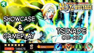 Showcase & Gameplay Tsunade (Re-kit) | Naruto x Boruto Ninja Voltage