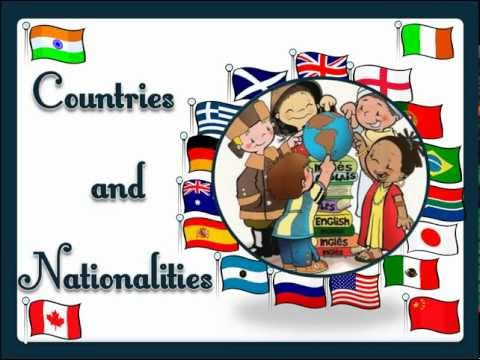 Countries and Nationalities (with sound) - English Language
