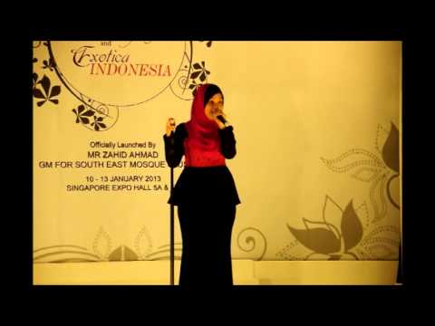 Najwa Latif Live At Singapore Expo video