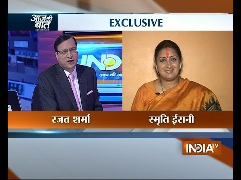 Smriti Irani speaks exclusively with Rajat Sharma on Aaj Ki Baat